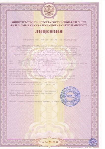 Лицензия на пассажирские перевозки картинка